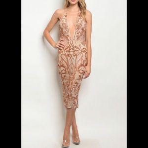 Dresses & Skirts - Rose Gold Sequin Dress